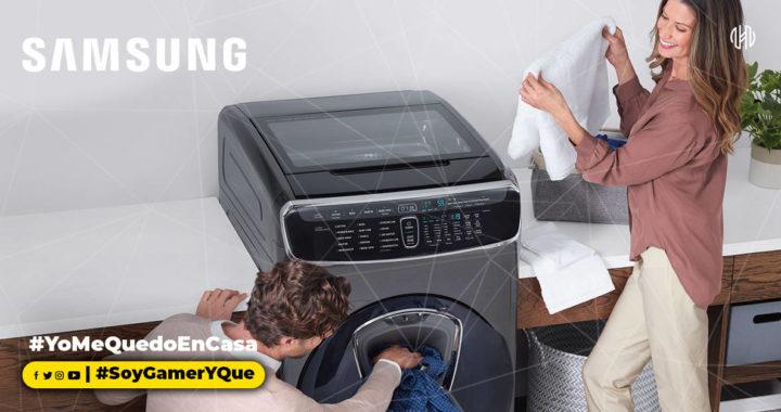 Las lavadoras de carga frontal de Samsung te brindan higiene mientras cuidan los tejidos