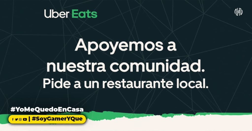 Uber, Medias preventivas, Uber Eats, Restaurantes,