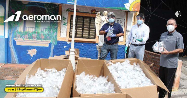 AEROMAN donó 2 mil kits de limpieza personal para habitantes de San Luis Talpa, en la Paz