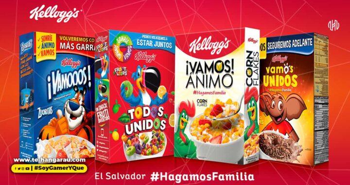 Kellogg's® lanza edición de cajas con mensajes de aliento para sus consumidores en El Salvador