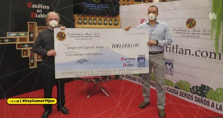 Distribuidora Marte, S.A. realiza donación por Q100,000.00 a la Asociación Amigos del Lago de Atitlán