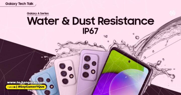 El Galaxy A52/A72 posee el escudo de la certificación IP67: resistente al agua y al polvo