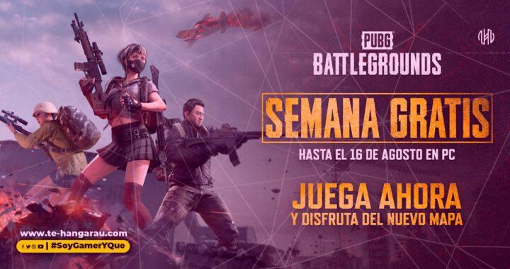 PUBG: BATTLEGROUNDS estará gratis durante una semana entera como parte de una promoción de Steam